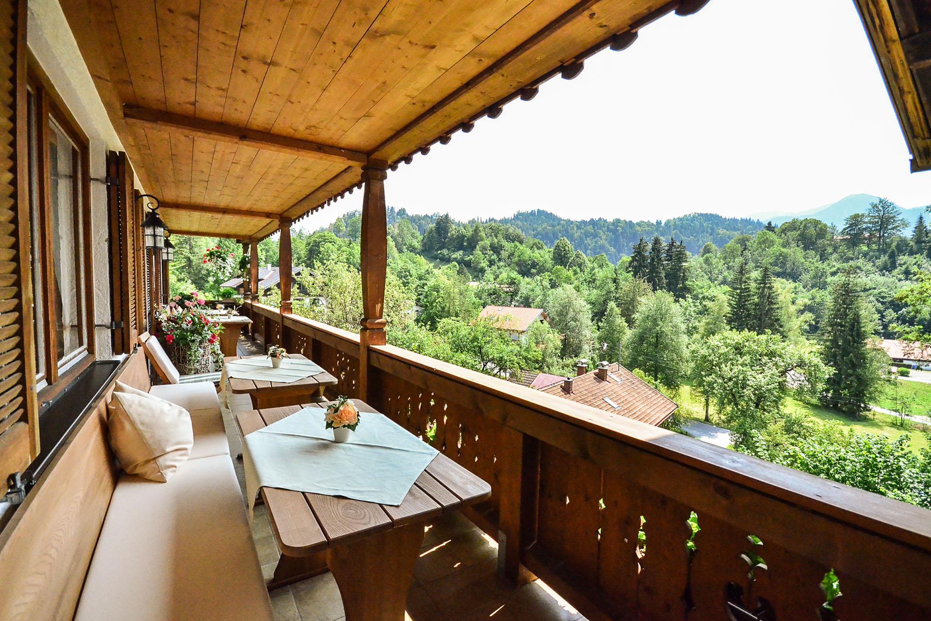 Der Ausblick vom Gästehaus Sonnenbichl - Hotel Fischbachau