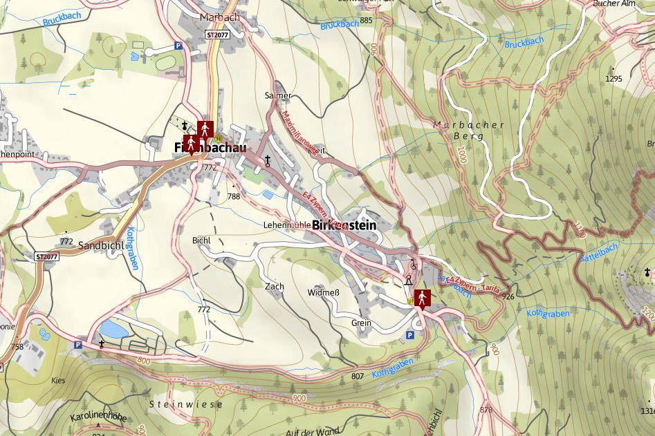 Karte Fischbachau