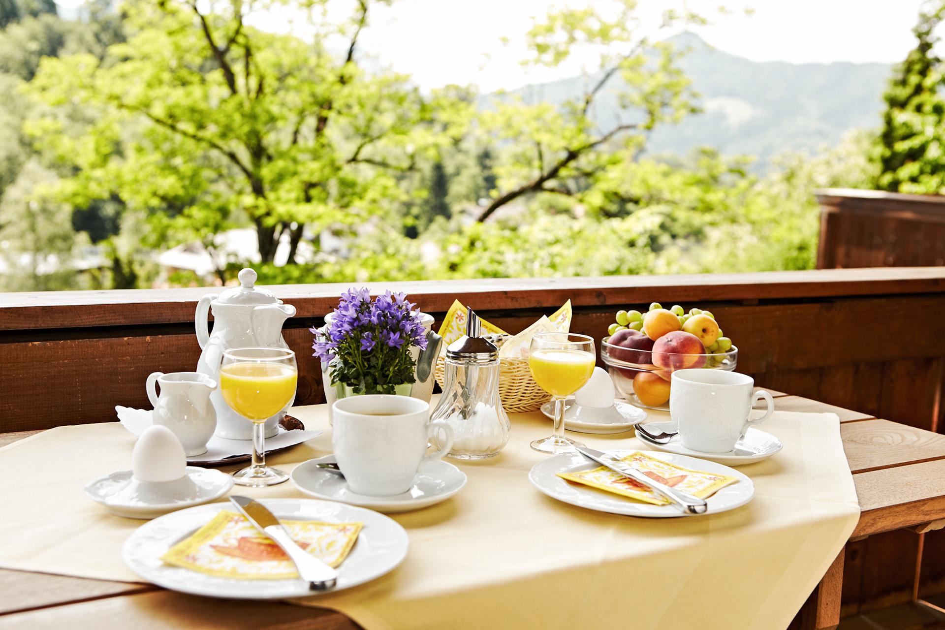 Sonnenbichl Frühstück im Gästehaus Hotel Fischbachau